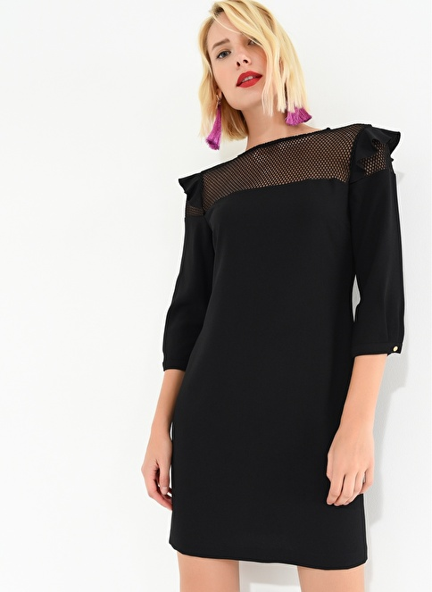 Agenda Truvakar Kol Elbise Siyah